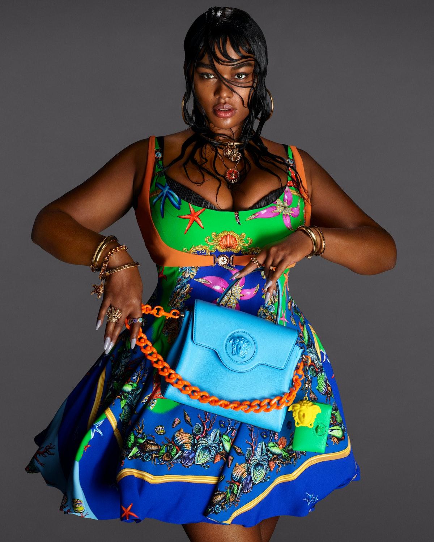 Precious Lee in Versace Spring/Summer 2021 Campaign.