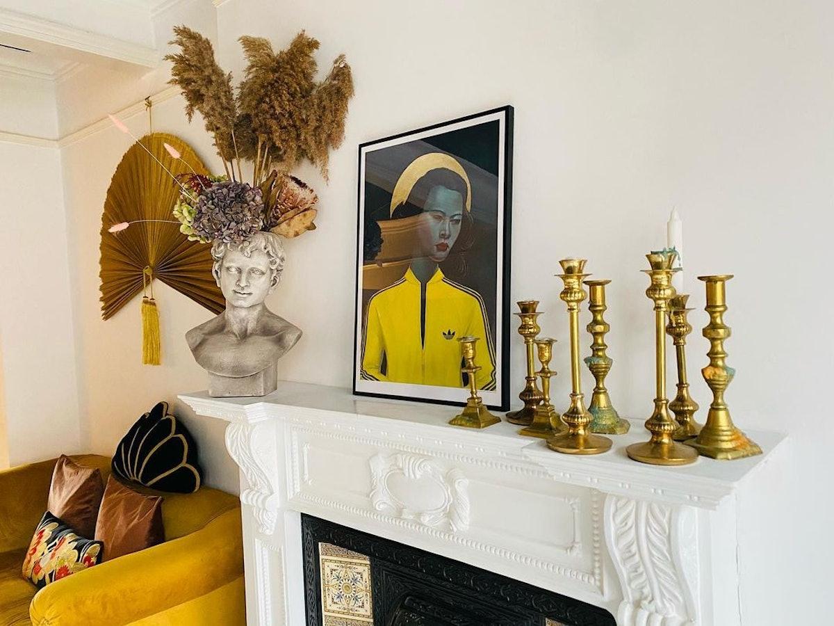 fireplace statement home decor
