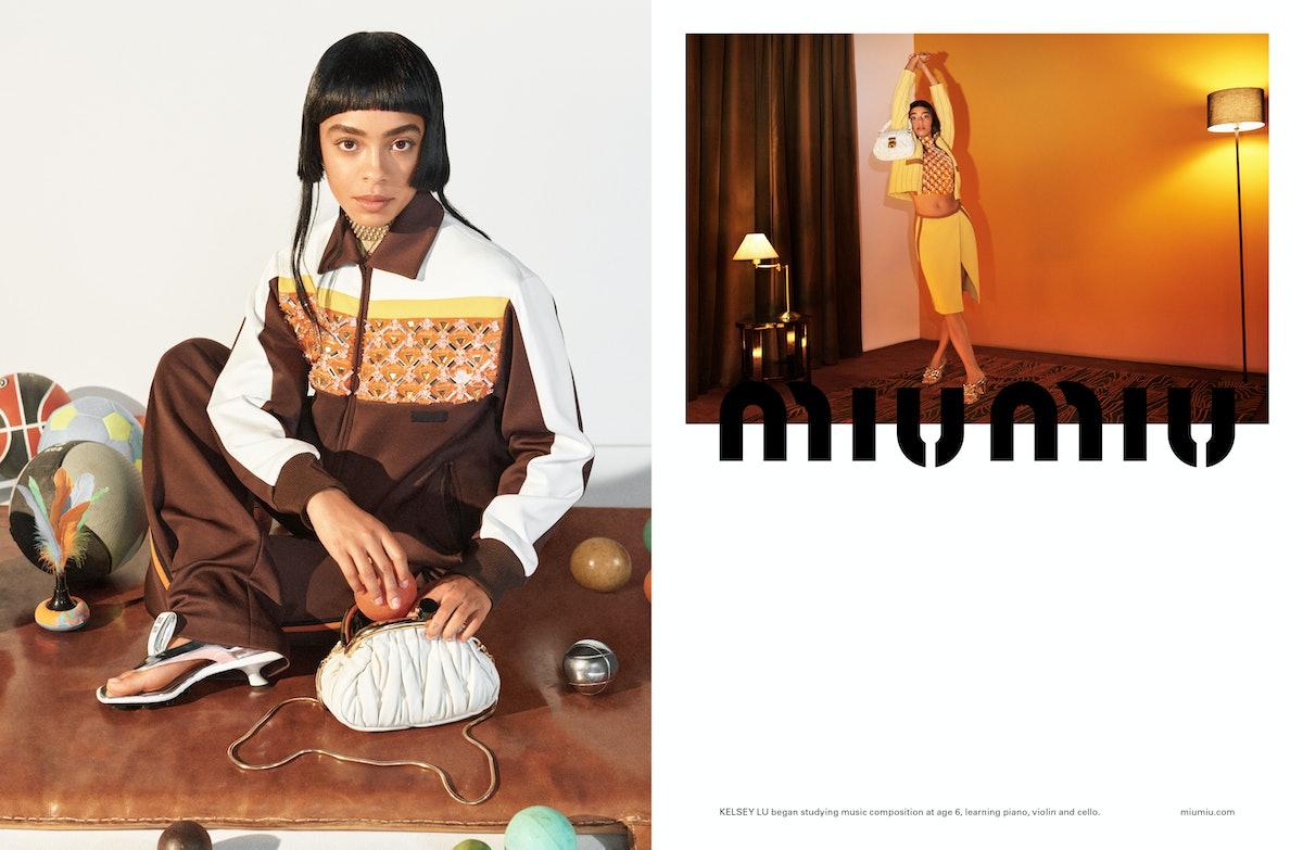 Kelsey Lu stars in Miu Miu's Spring/Summer 2021 Campaign.