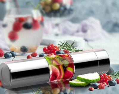 asobu Stainless Steel Water Bottle with Fruit Infuser