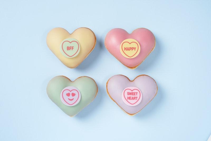 Krispy Kreme Is Selling Heart-Shaped Doughnuts For Valentine's Day 2021