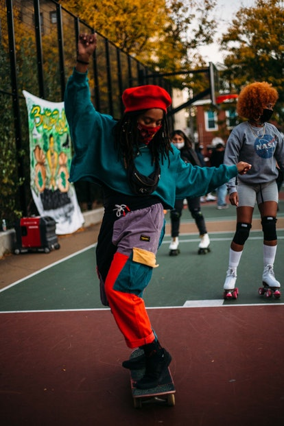 A photo from one of Butter Roll's pop up skating events.