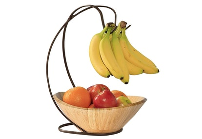 Seville Classics Fruit Bowl with Banana Hook
