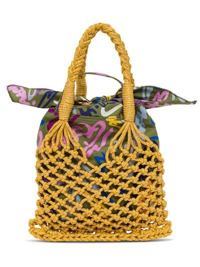 M Missoni Metallic Woven Tote Bag