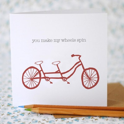 You make my wheels spin Card