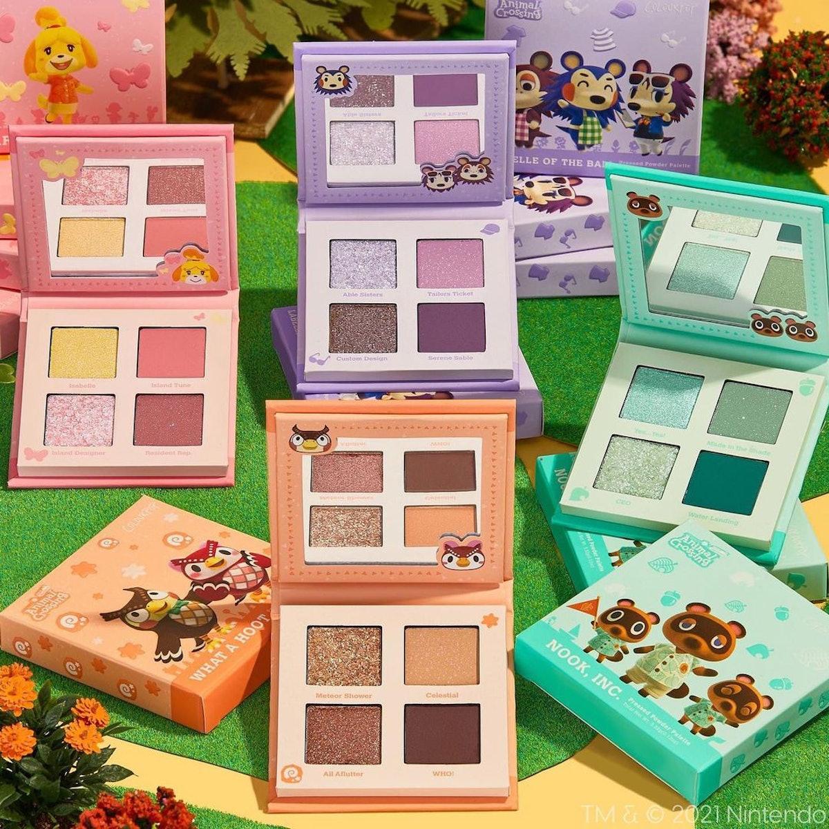 "ColourPop x ""Animal Crossing: New Horizons"" eyeshadow palettes."