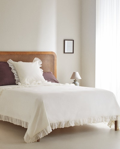 Embroidered Organza Fabric Duvet Cover