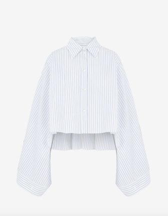 Cropped Asymmetric Shirt