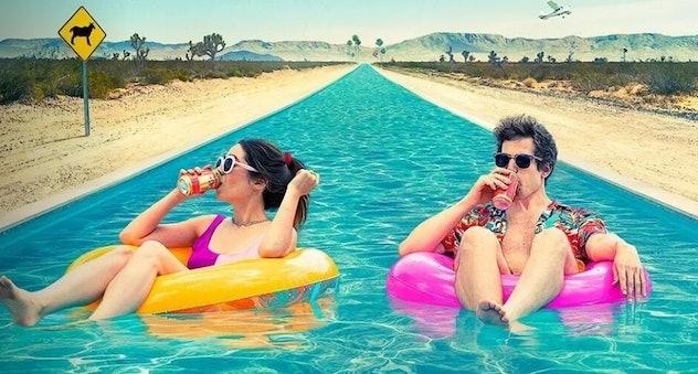 Andy Samberg and Crisin Millioti star in 'Palm Springs' on Hulu.