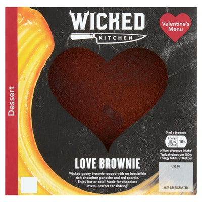 Wicked Kitchen Heart Shaped Brownie