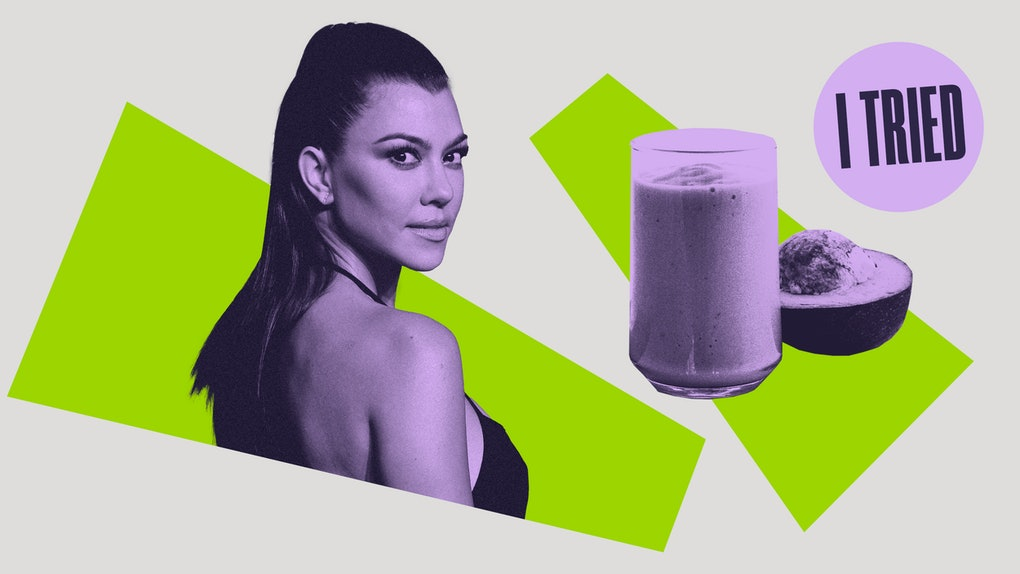 Kourtney Kardashian and her keto avocado smoothie