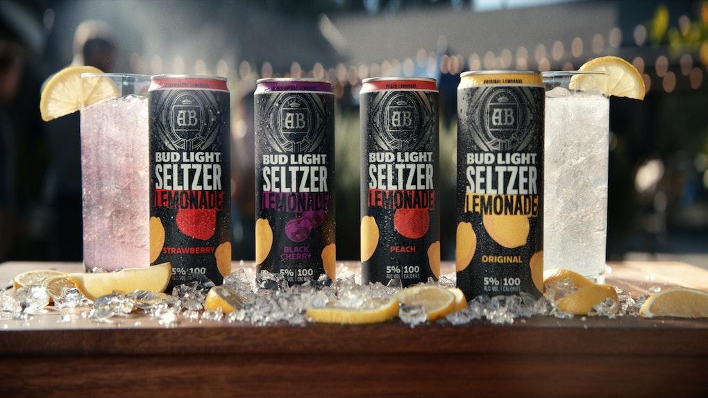 Bud Light is giving away 12-packs of its seltzer lemonade.