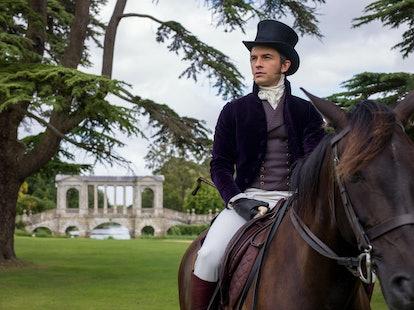 Anthony (Jonathan Bailey) Rides A Horse In 'Bridgerton.' Photo via Netflix