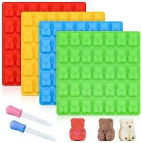 CAKETIME Gummy Bear Molds (4-Pack)