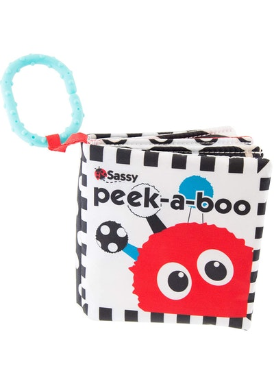 Sassy Peek-a-Boo Activity Book With Attachable Link