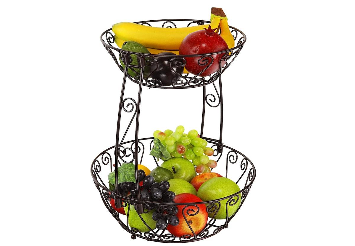 Simple Houseware 2-Tier Fruit Basket