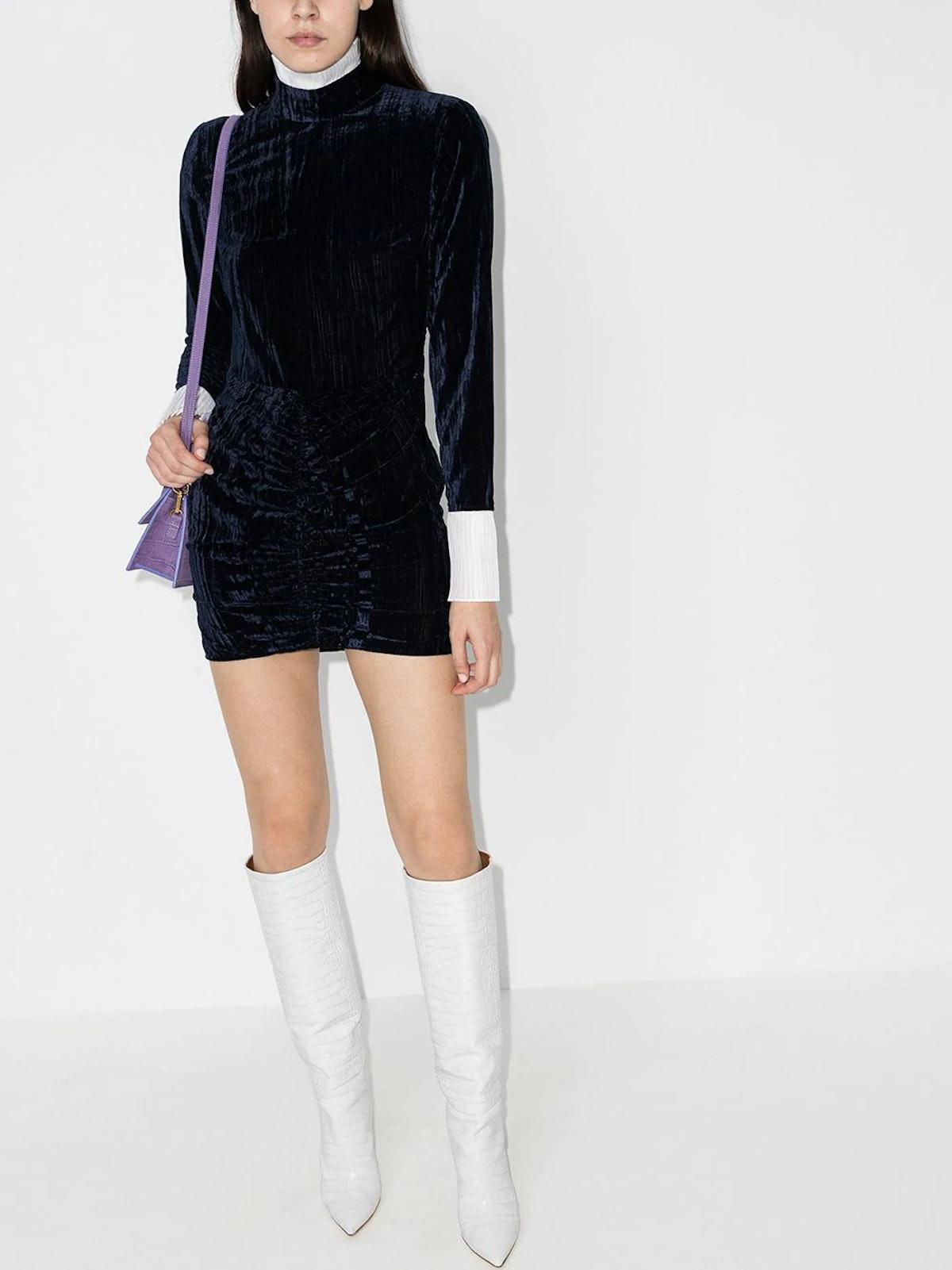 Miki Velvet Mini Dress