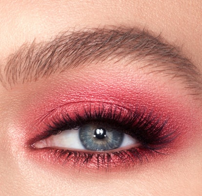 This blown out read smoky eye is a great colorful option.