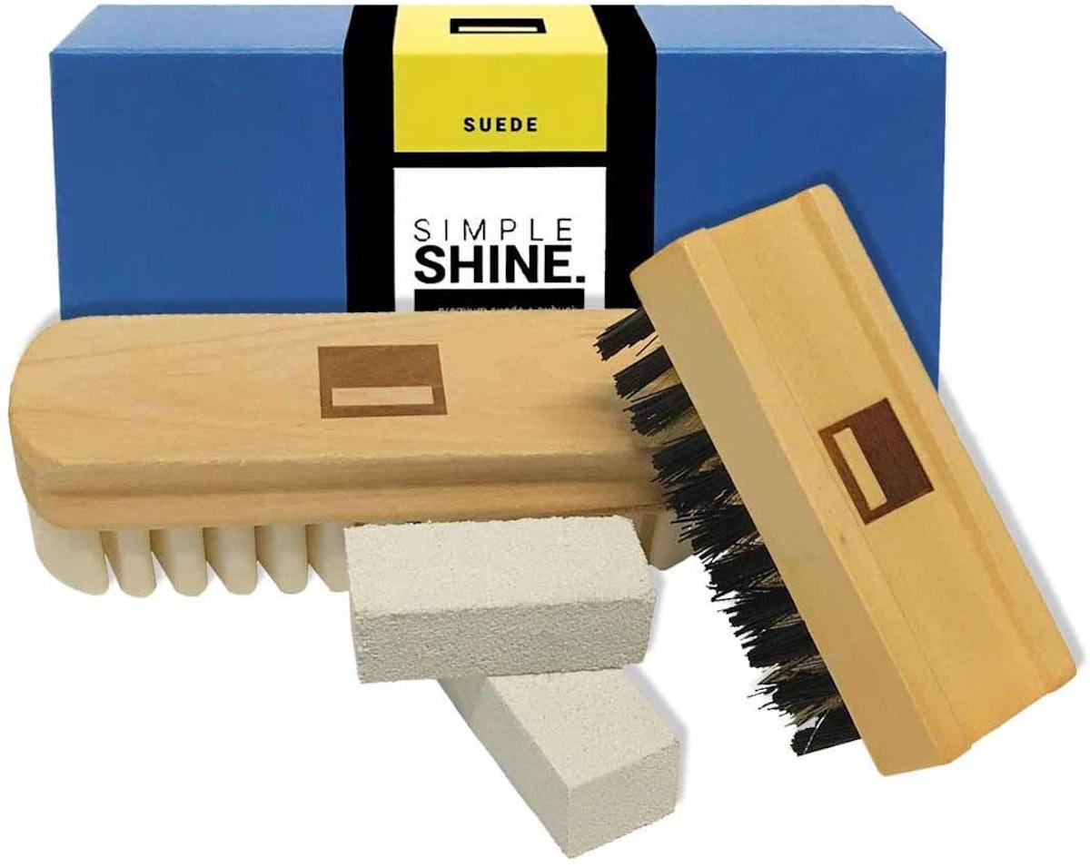 Simple Shine Suede Brush and Eraser Set