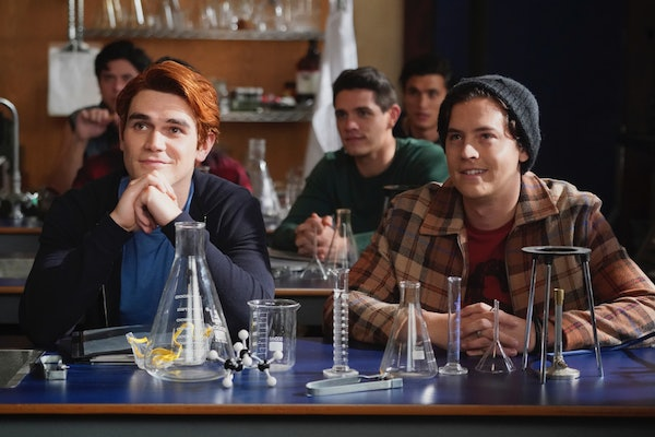 KJ Apa and Cole Sprouse as Archie and Jughead in Riverdale Season 5.