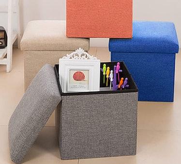 NISUNS Linen Folding Storage Cube