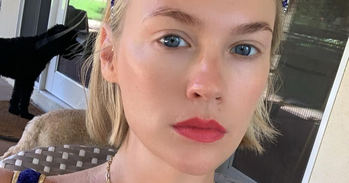January Jones Just Dropped Her Skin Care Routine And It's Filled With Gems