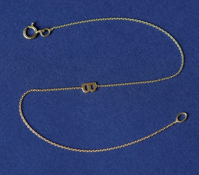 Sideways Initial Bracelet