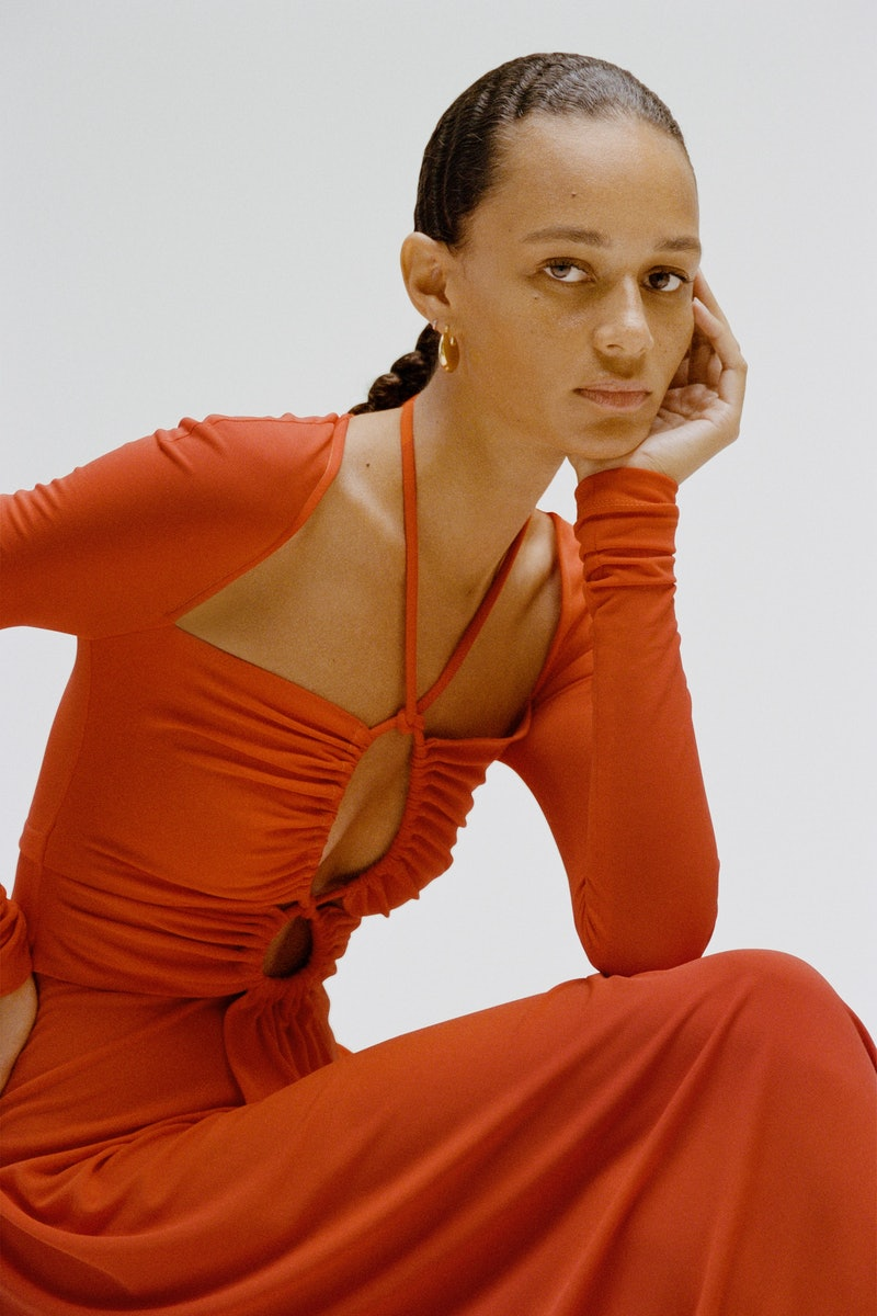 Spring/summer '21 color trends include shades of rust orange from Proenza Schouler