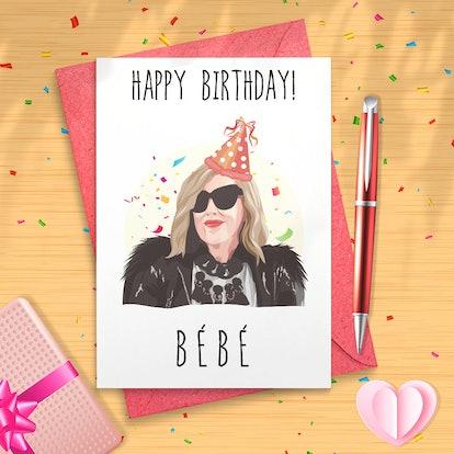 "Schitt's Creek/Moira Rose - ""Happy Birthday Bébé"" - Greeting Card"