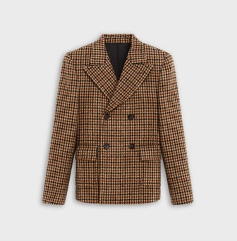 Babydoll Jacket In Houndstooth