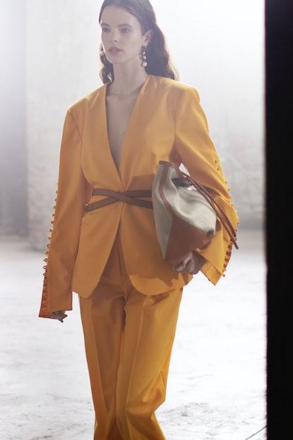 Shop the sunshine yellow color trend, as seen at Altuzarra.