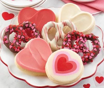 Valentine Pretzels and Cookies