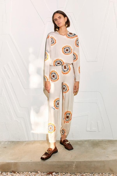 Ley Long Sleeve Printed Knit Top