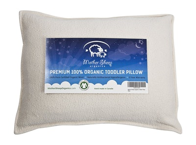 Mother Sheep Organics Organic Wool Toddler and Kids Pillow (14 x 19 inches)