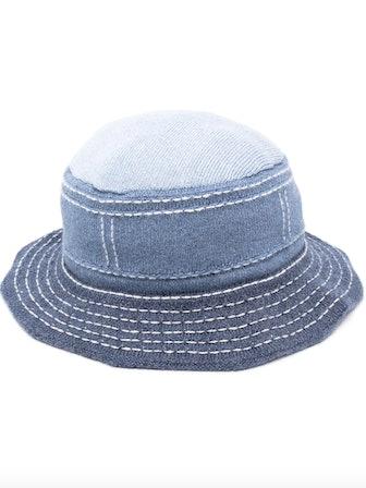 Contrast Stitching Bucket Hat