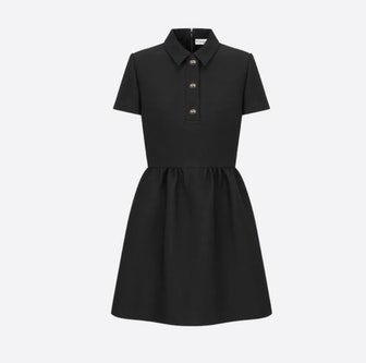 Fitted Dress With CD Buttons
