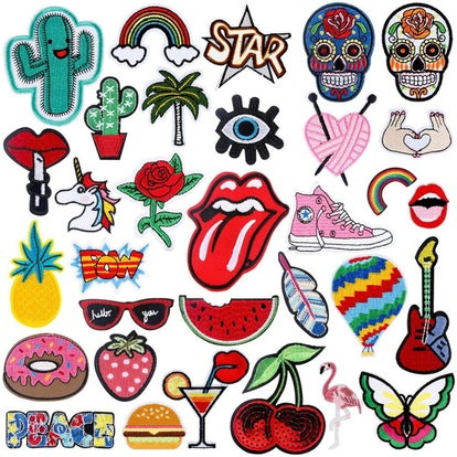 Wish Patch 32PCS Assorted Styles Embroidered Sew On/Iron On Patches Applique