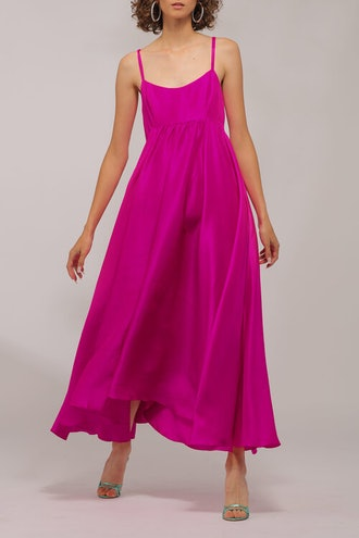 Rachel Raw Silk Magenta Dress