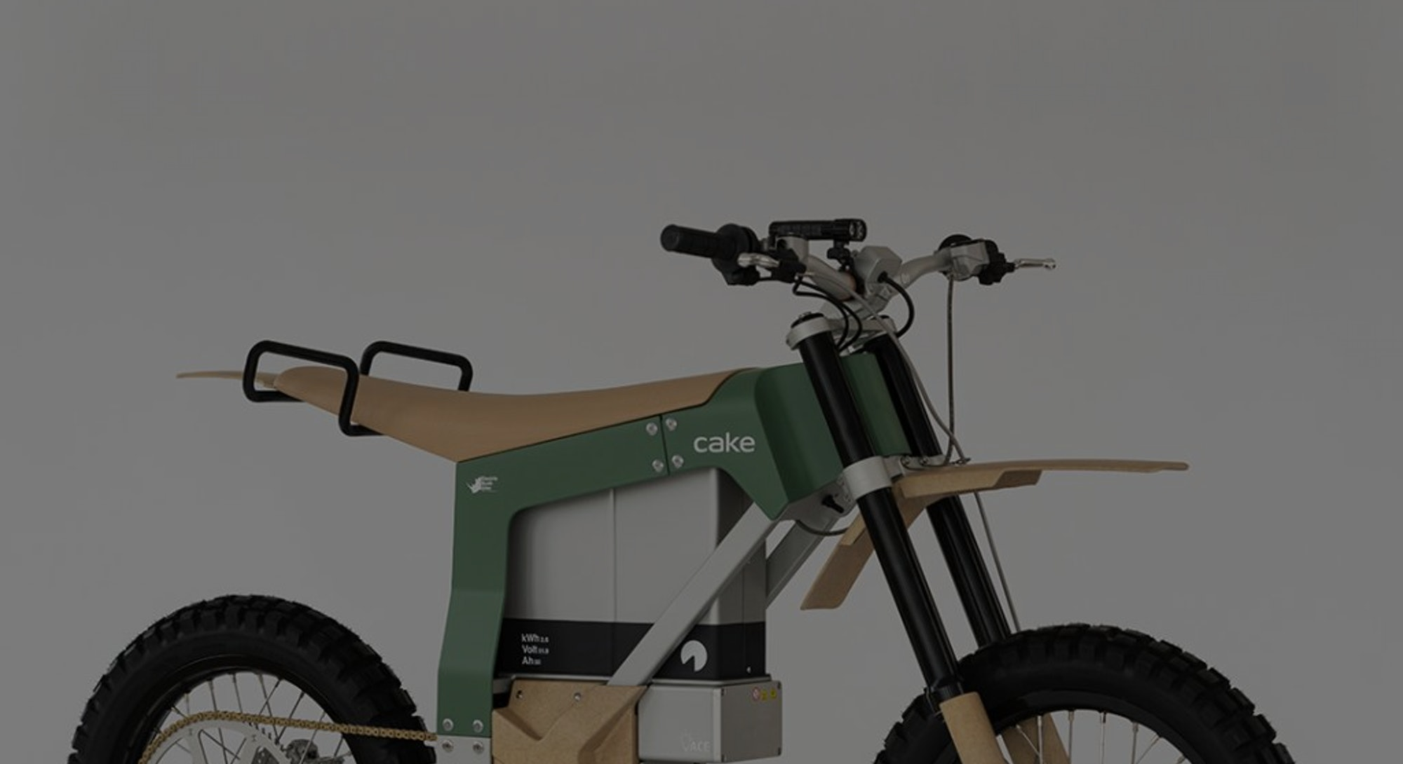 The Kalk AP anti-poaching electric motorcycle from Cake.