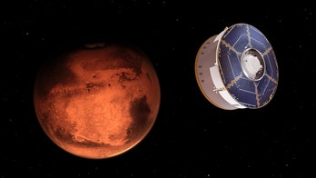 NASA's Mars 2020 spacecraft carrying the Perseverance rover as it approaches Mars