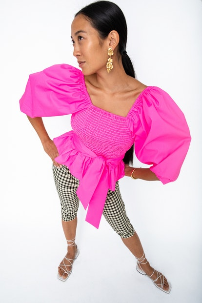 Designers like Tanya Taylor are behind the bold magenta spring/summer 2021 color trend.