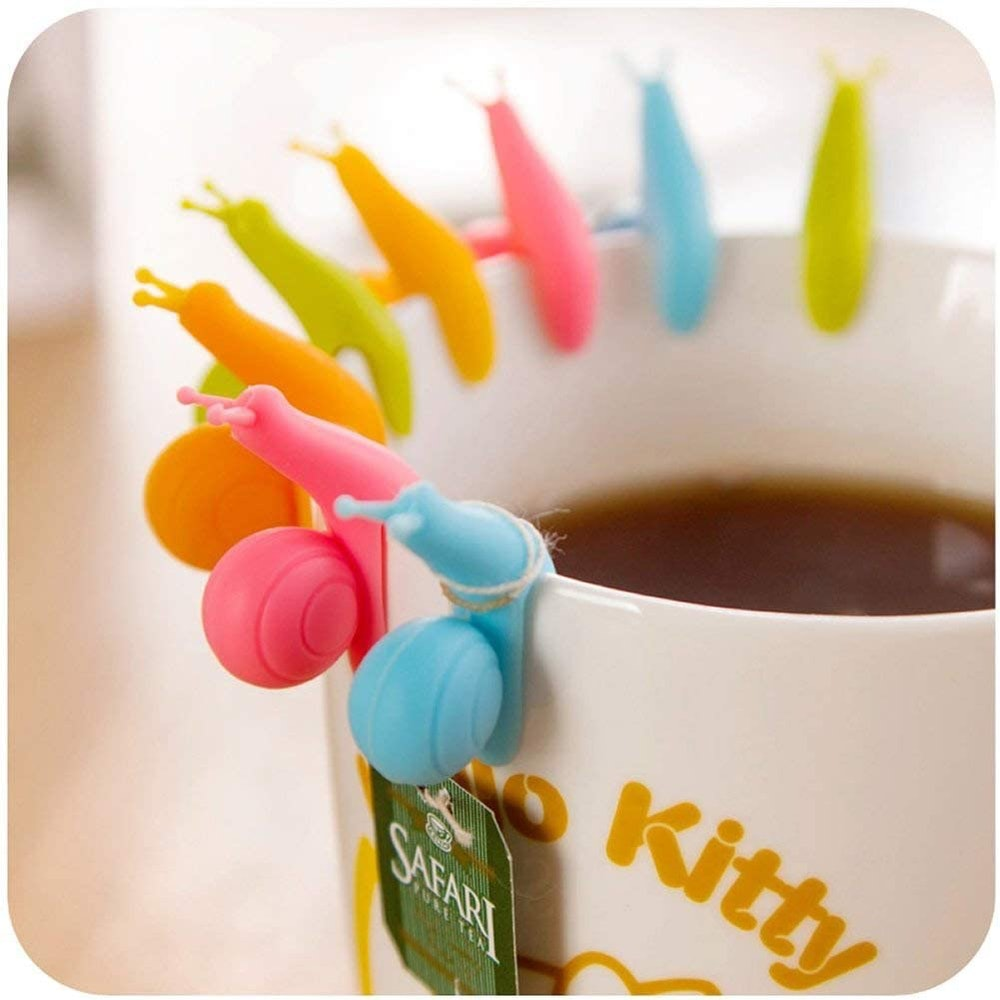 SOSUO  Silicone Snail Tea Bag Holders (10-Pack)