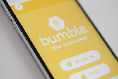Phone screen open to Bumble