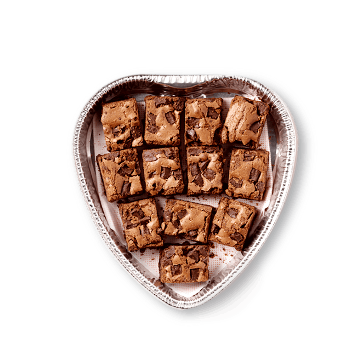Chick-fil-A's heart-shaped nugget trays also come in a sweet option, like this 12-count of brownies for $11.50.