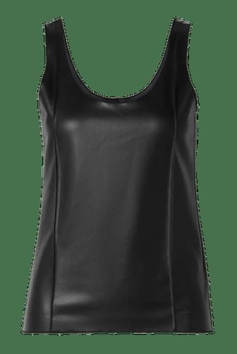 Black Leather Tank Top