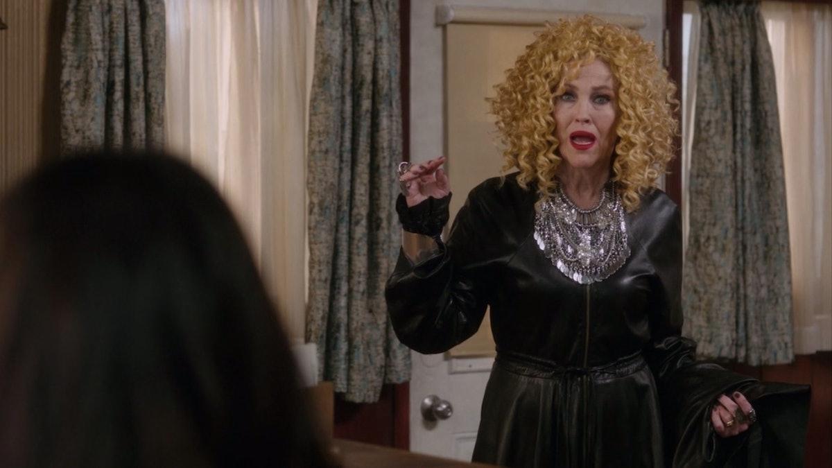 Moira's Goldilocks wig.