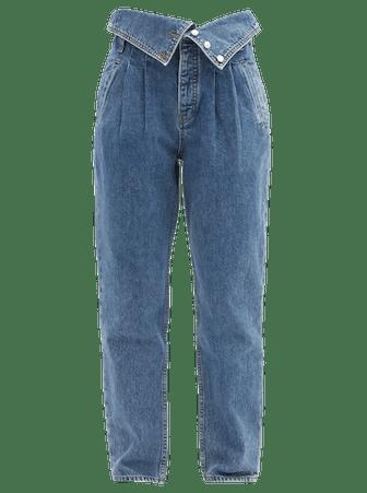 80s Fold Over Straight Leg Jeans