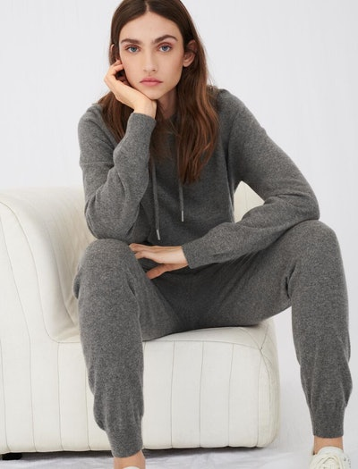 Cashmere Hoodie-Style Sweater and Jogger-Style Pants
