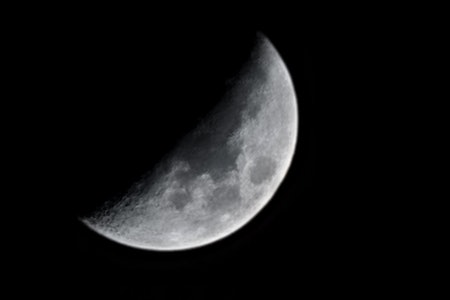 Photo of the moon taken with Galaxy S21 Ultra 100x Space Zoom and using AI Super Resolution and Scen...