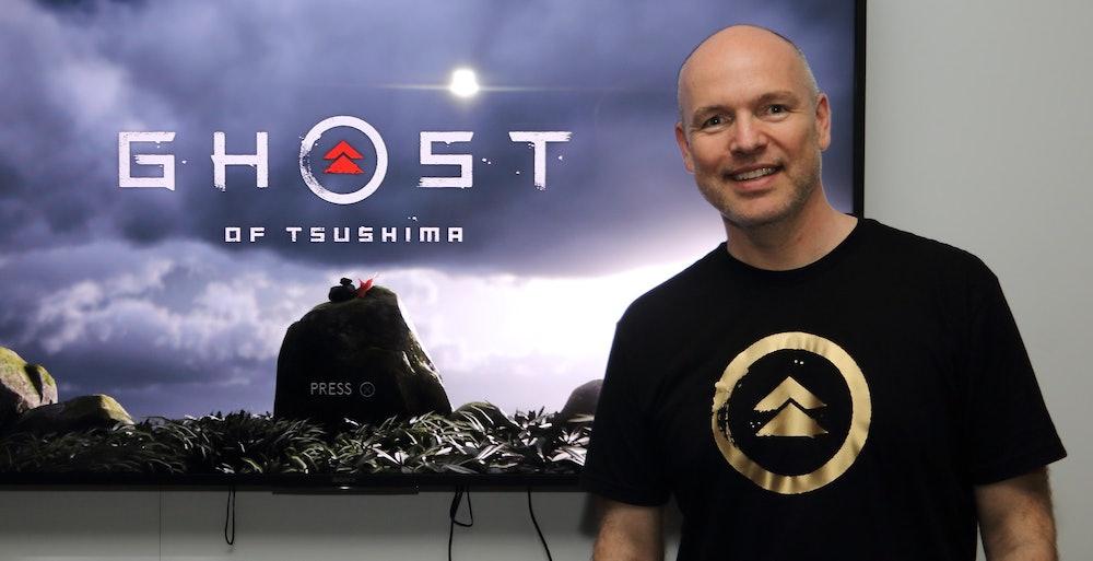 Ghost of Tsushima director Nate Fox at E3 2018.